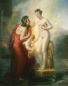 Now the real postmodern question is, did Girodet fall in love with his own painting of Pygmalion?